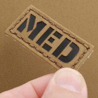 "Mini 1""x2"" MED Medic Tan Coyote EMS Paramedic Laser Cut Tactical Velcro Patch"