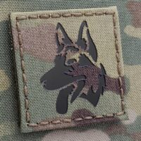 IR K9 Dog Handler 2x2 Multicam Morale Tactical Laser Cut Velcro Patch