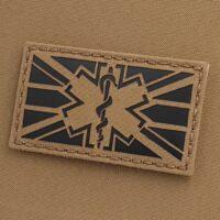 Union Jack UK MED Star of Life Combat Medic EMS Paramedic Morale Tactical Laser Cut Velcro Patch