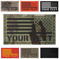 custom reversed usa american flag with text