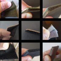 Velcro backing details