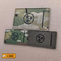Tennessee State Flag TN Tactical Laser Cut Velcro© Brand Patch