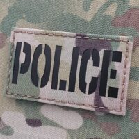 IR Multicam Police LEA Law Enforcement LEO Tactical Sheriff SWAT Blue Line for Plate Carrier Velcro© Brand Patch