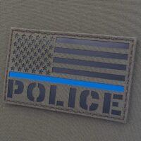 IR Police Thin Blue Line American Flag 3x5 Jumbo Velcro Patch