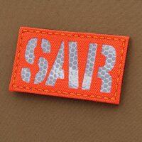 Hi Viz SAR 2x3.5 Search And Rescue Blaze Fluorescent Orange SOLAS Reflective Tape Tactical Morale VELCRO (C) brand Patch