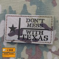 IR Multicam Don't Mess With Texas 2x3.5 Flag Lone Star Tactical Morale Laser Cut Velcro© Brand Patch