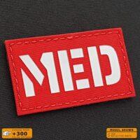 "Reflective High Visibility MED Medic 2""x3.5"" EMS Medical Paramedic Hi Viz Laser Cut Velcro© Brand Patch"