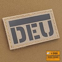 IR Desert Sand DEU Deutschland Flagg German Flag Tan Infrared Laser Cut Tactical Military Army Velcro© Patch