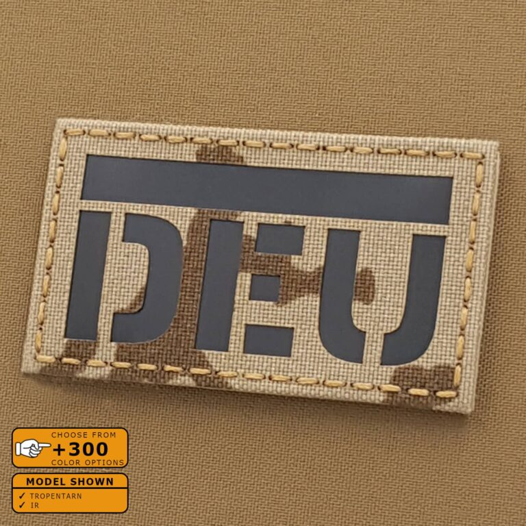 IR Tropentarn DEU Deutschland Flagg German Flag Infrared Laser Cut Tactical Military Army Velcro© Patch