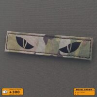 """IR Multicam Scary Cat Eye 1""""x5"""" Eyes OCP Morale Tactical Military Army Laser Cut Velcro© Brand Patch"""