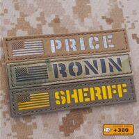 """Custom Name Tape 1""""x5"""" Your Text With USA America Flag Army Military Morale Tactical Laser Cut Velcro© Brand Patch"""