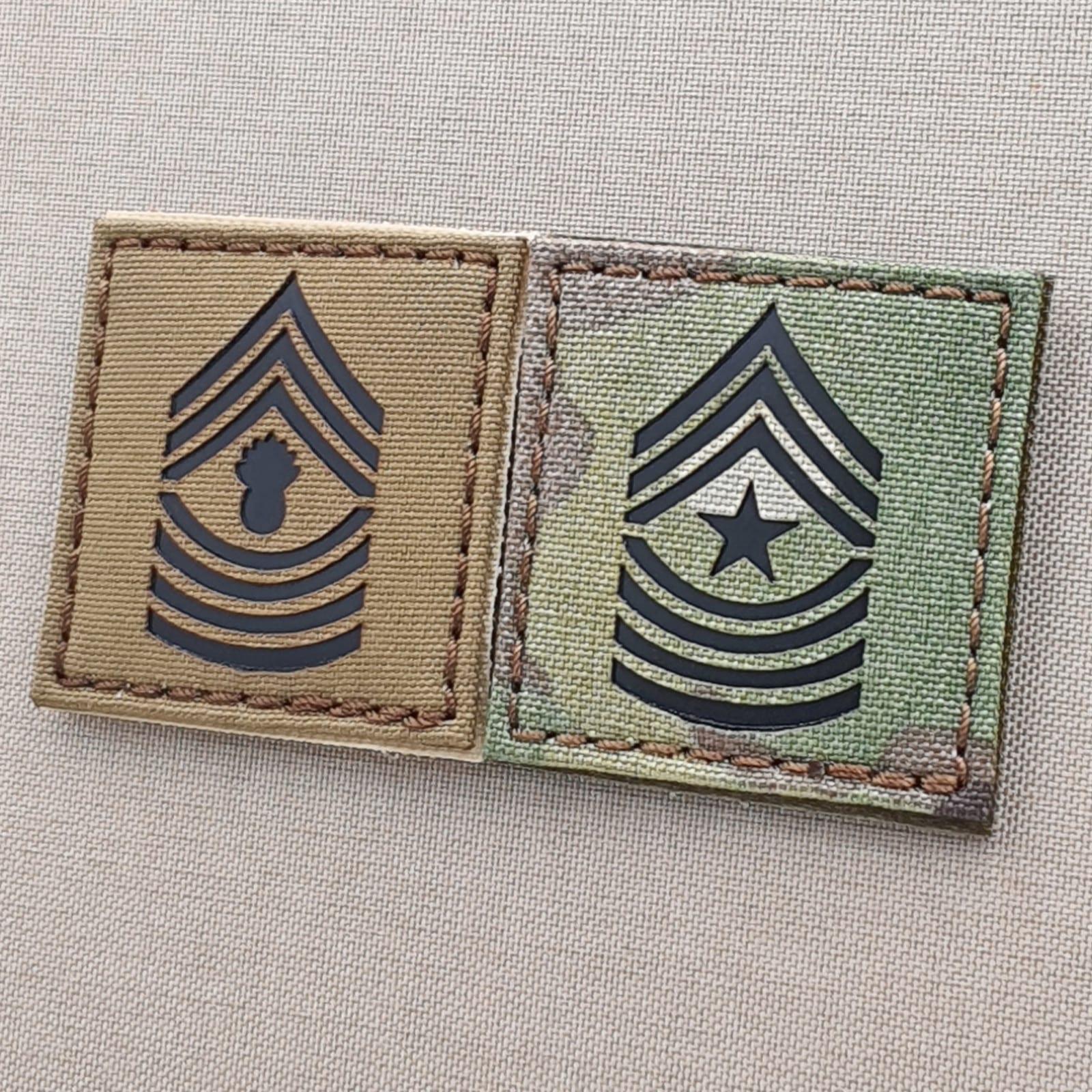 IR USMC e-8 master sergeant MGYSGT rank multicam 2x2 US marines tactical patch