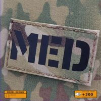 """MED Medic EMS EMT 2""""X3.5"""" Paramedic Medical Tactical Military Army Laser Cut Velcro (C) Brand Patch"""