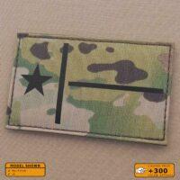 IR Big 3x5 Multicam Texas Lone Star Flag Tactical Morale Laser Cut Velcro© Brand Patch