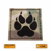 Multicam Infrared IR K9 Dog Handler Paw K-9 2x2 Laser Cut Tactical Morale VELCRO(C) brand Patch