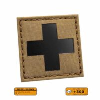 Red Cross IR IFAK MED Medical EMS COYOTE BROWN Infrared EMT 2x2 Tactical Morale VELCRO(C) brand Patch