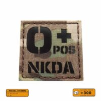 OPOS NKDA O+ Blood Type 2x2 Tactical Morale Laser Cut Velcro© Patch