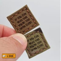 Tiny Patch 1×1 If You Can Read This You're Too Damn Close Sniper Army Military Tactical Morale Laser Cut Velcro© Patch