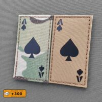 Ace of Spades 2x3.5 Death Dead Card Morale Army Military Tactical Laser Cut Velcro© Brand Patch