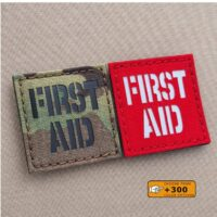 First Aid Kit IFAK 2x2 Medic Survival Tactical Laser Cut Velcro© Patch
