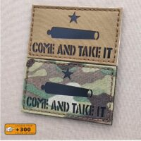 Come and Take It Texas Revolution Gonzales Gun Morale Tactical Laser Cut Velcro© Patch
