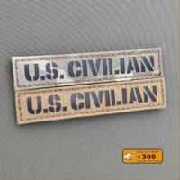 US Civilian Name Tape 1x5 Morale Tactical Laser Cut Velcro Brand Patch