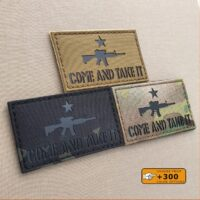 Come and Take It Modern AR-15 Texas Revolution Gun 2×3.5 Army Military Morale Tactical Laser Cut Velcro Patch