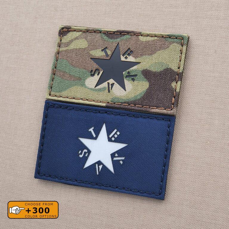Texas Lorenzo de Zavala Flag 2x3.5 Lone Star Morale Tactical Laser Cut Velcro Brand Patch
