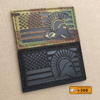 America Flag Spartan Molon Labe 2x3.5 USA Morale Tactical Army Military Laser Cut Velcro Brand Patch