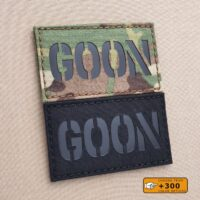 Goon 2x3.5 Funny Tactical Morale Army Military Laser Cut Velcro Brand Patch
