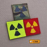 Radioactive Nuclear Hazard Trefoil Symbol 2x2 Hazard Radiation Morale Tactical Laser Cut Velcro© Brand Patch