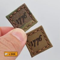 Tiny 1x1 American Revolution 1776 Declaration Independence Cat Eye USA Morale Tactical Laser Cut Velcro Brand Patch