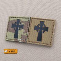 Celtic Cross 2x2 Irish Christian Morale Tactical Laser Cut Velcro© Brand Patch