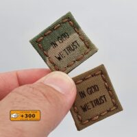 Tiny 1x1 In God We Trust Cat Eye America US Morale Tactical Army Military Laser Cut Velcro Brand Patch