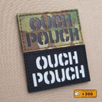 Ouch Pouch 2x3.5 Funny Morale Tactical Laser Cut Velcro Brand Patch