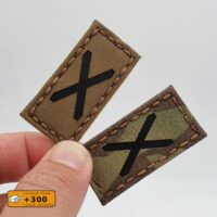 Tiny 1x2 Alabama Small Flag Scotland Tactical Morale Army Military Laser Cut Velcro© Brand Patch
