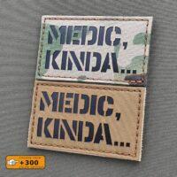 Medic Kinda IFAK EMS Morale Tactical Laser Cut Velcro© Brand Patch