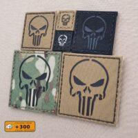 Punisher Skull Laser Cut Tactical Morale VELCRO(C) brand Patch