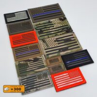 USA American flag US Army Forward or Reversed Military Tactical Morale Laser Cut Velcro© Brand Patch