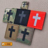 Christian Cross Jesus Christ Crucifix Faith God Tactical Morale Velcro© Brand Patch