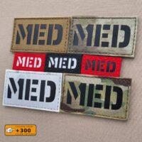 MED MedicEMS Combat EMT Paramedic Medical Tactical Military Laser Cut Velcro© Brand Patch