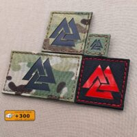 Viking Valknut Norse Laser Cut Tactical Morale Velcro© Brand Patch