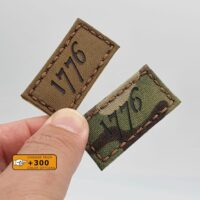 American Independence 1776 Revolution 3% Morale 2A Militia Morale Tactical Velcro© Brand Patch