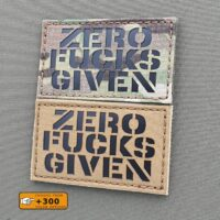 Zero Fucks Given Morale Tactical Laser Cut Velcro© Brand Patch