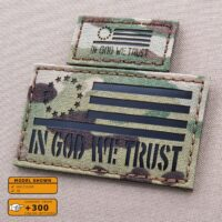 Betsy Ross USA In God We Trust American flag US Army Military Tactical Morale Laser Cut Velcro© Brand Patch