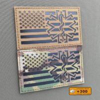 USA Star of Life America Flag Paramedic SAR Medic US Tactical EMS Velcro© Brand Patch