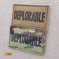 Deplorable Morale Tactical Army Laser Cut Badge Velcro© Brand Panel Patch