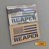 America Flag Reaper USA Army Military Morale Tactical Laser Cut 2A Velcro© Brand Patch