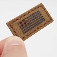 "Tiny 1""x1"" America Flag Tactical Notch Hat Baseball Cap US Army USA Military Morale Laser Cut Velcro"