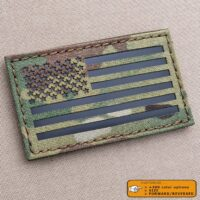 America Flag US Army Military IFF USA IR Reflective Tactical Morale Laser Cut Velcro Brand Patch